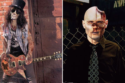 Slash e Billy Corgan
