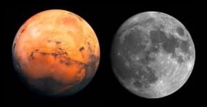Segundo o tal mito, essa seria a visão do céu no dia 27 de Agosto.